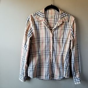 Authentic Burberry Checkered Button Down Shirt
